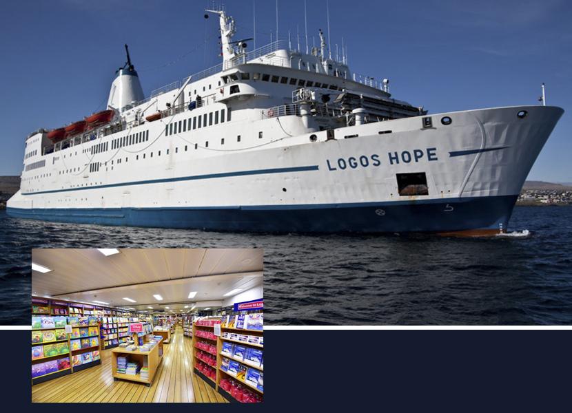 Logo Hope, navio com a maior feira de livro flutuante do mundo chega ao Brasil no mês de agosto
