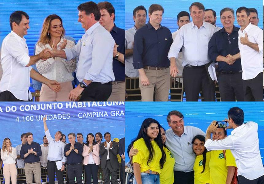 Prefeito Romero Rodrigues e presidente Jair Bolsonaro inauguram o Complexo Habitacional Aluízio Campos – em Campina Grande