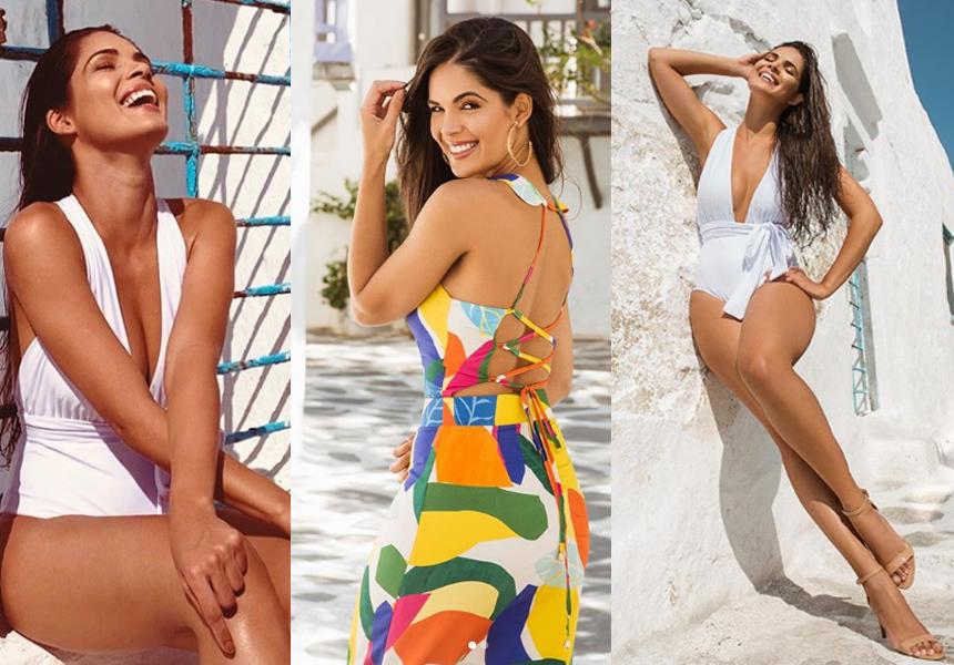 A linda Miss Paraíba 2019 Kennya Araújos esteve em Mykonus, na Grécia,  gravando uma nova campanha para seu valioso currículo de beleza