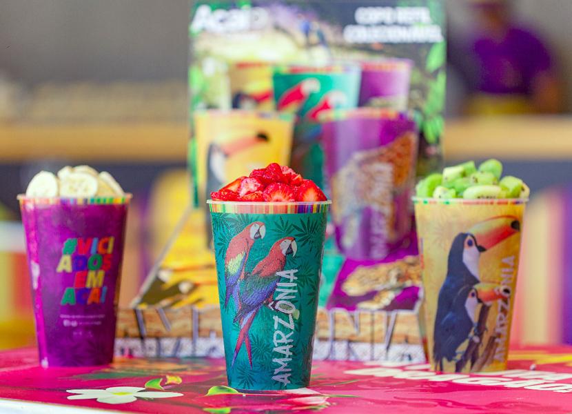 Açaí Concept lança campanha de verão com copos coloridos e personalizados para você colecionar