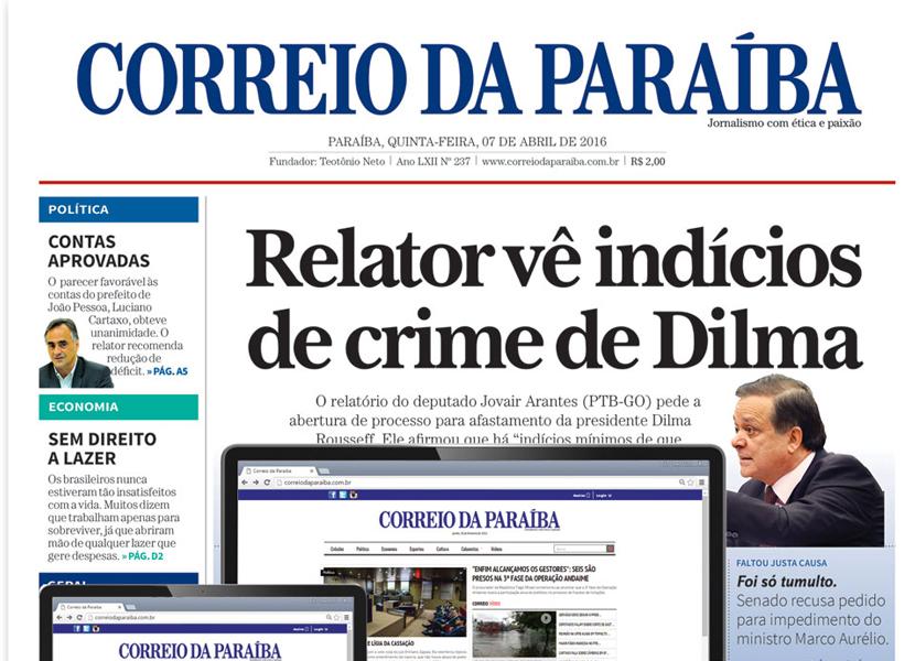 JORNAL CORREIO DA PARAÍBA ENCERRA SUAS ATIVIDADES APÓS 66 ANOS DE HISTÓRIA