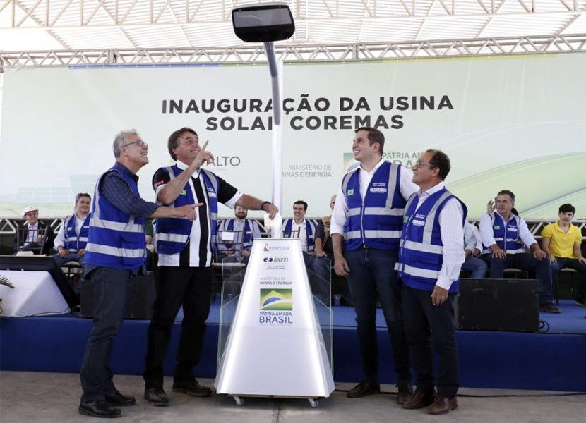 O PRESIDENTE JAIR BOLSONARO INAUGUROU HOJE, NA PARAÍBA, O MAIOR COMPLEXO DE USINAS DE ENERGIA SOLAR DO BRASIL