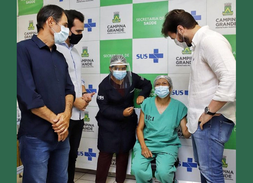 Começou a primeira etapa da vacinação contra a Covid-19 em Campina Grande