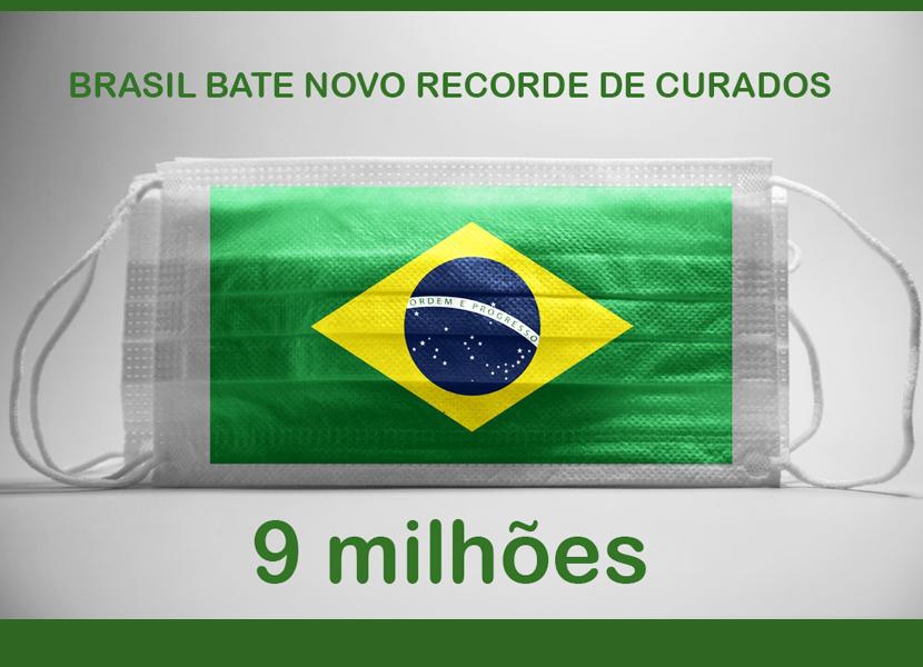 Brasil bate novo recorde de pessoas curadas da Covid-19 – agora são 9 milhões