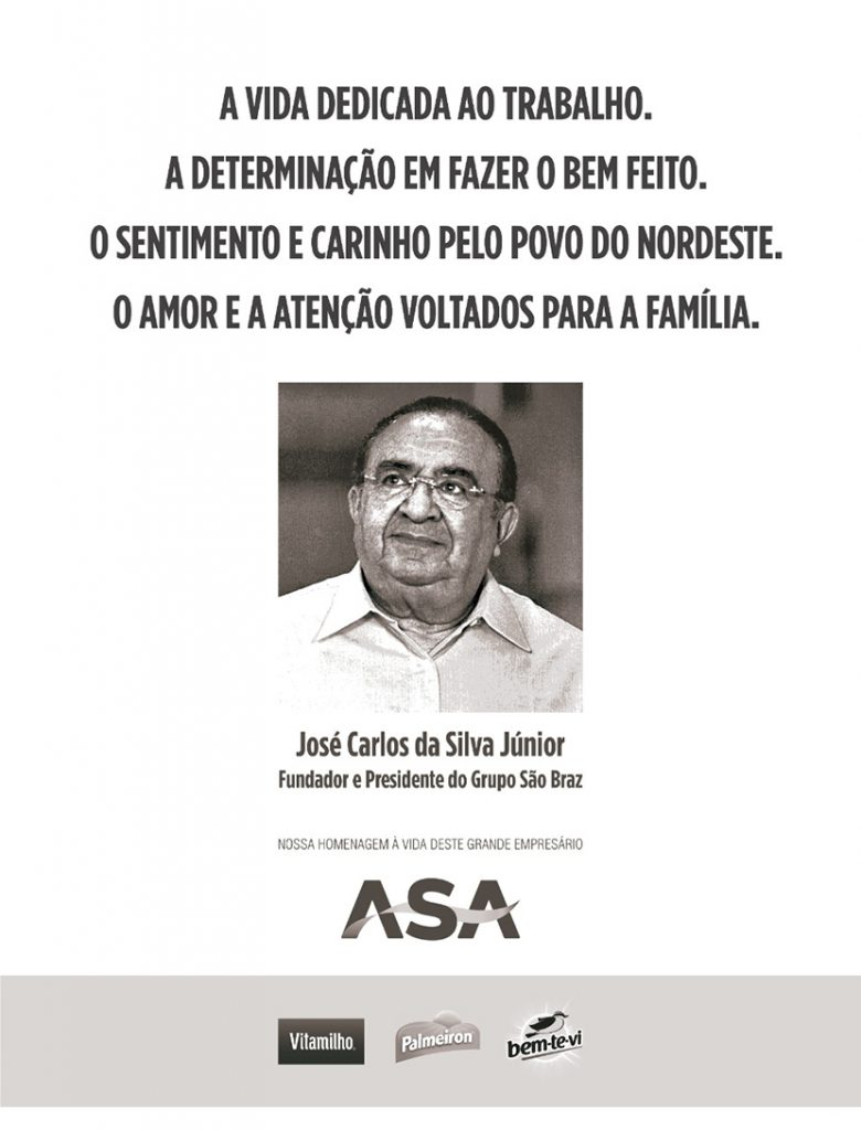 Uma homenagem do Grupo ASA ao empresário paraibano José Carlos da Silva Júnior